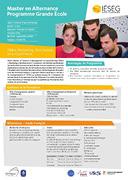 Master en Alternance Programme Grande Ecole