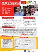 Master en Management - Management et Ingénierie Commerciale
