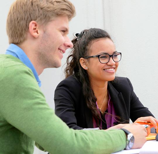 Students studying Marketing