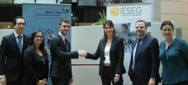 La société ARVAL (Groupe BNP Paribas) rejoint le Club des Entreprises Partenaires de l'IÉSEG