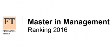 IÉSEG ranked 17th in 2016 Financial Times global ranking of the best masters in management
