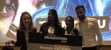 3 étudiantes IÉSEG remportent la finale nationale du concours l'Oréal Brandstorm