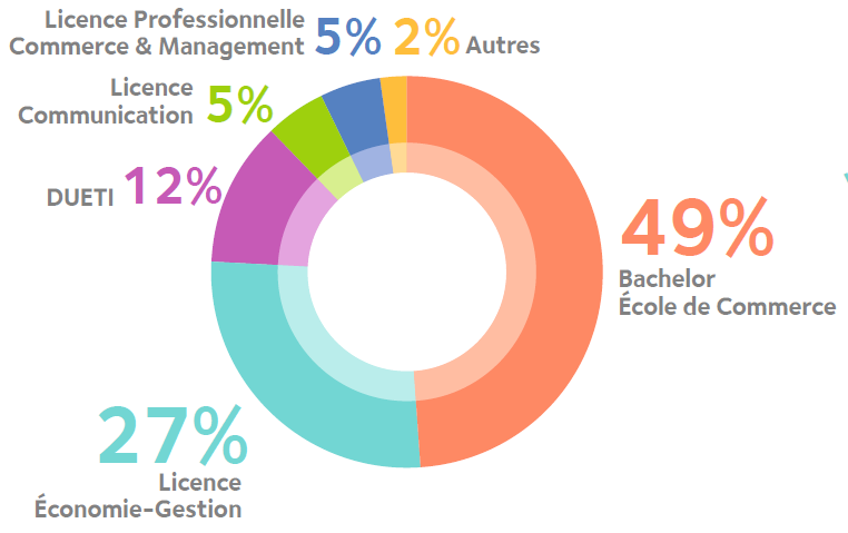 profil des admis en Digital Marketing et e-commerce