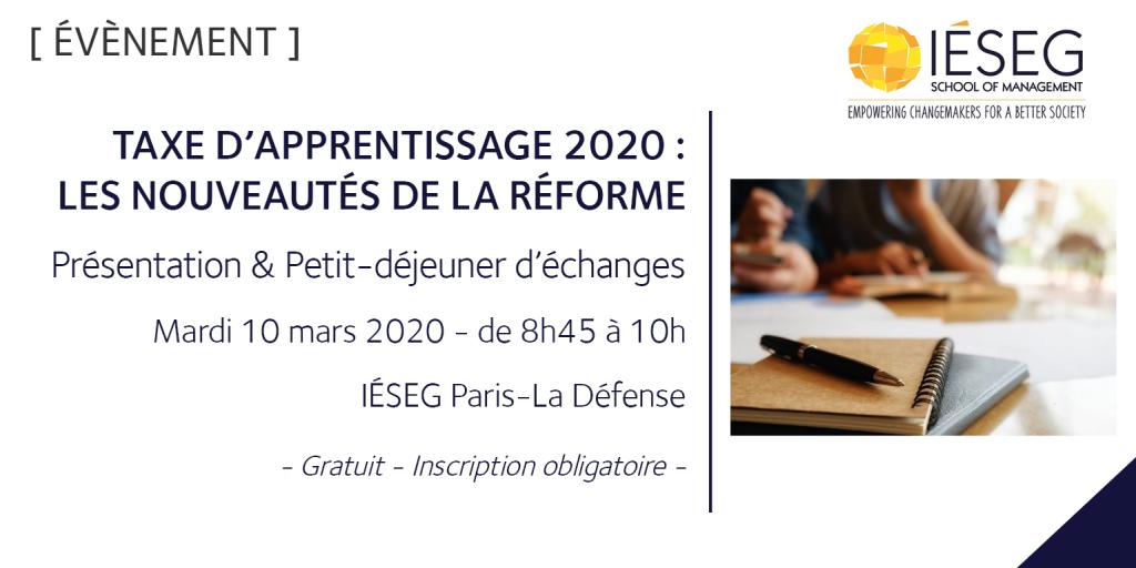 2020 mars_PDej Taxe apprentissage _Paris