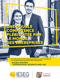 """Double Diplôme """"International Business and Law"""""""