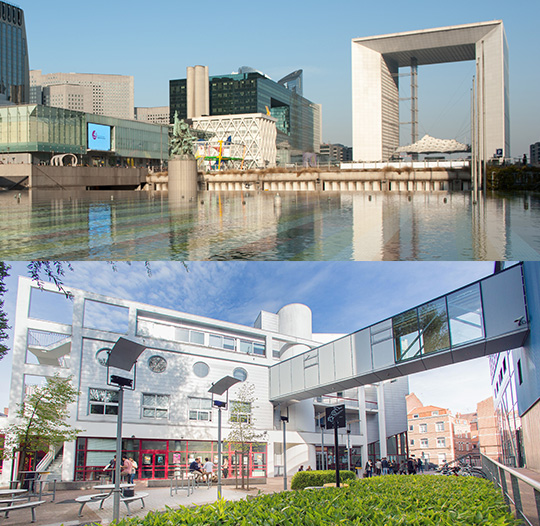 IÉSEG's two campuses, in Paris and Lille.