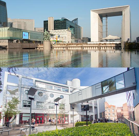 Les deux campus de l'IÉSEG, à Paris et Lille.